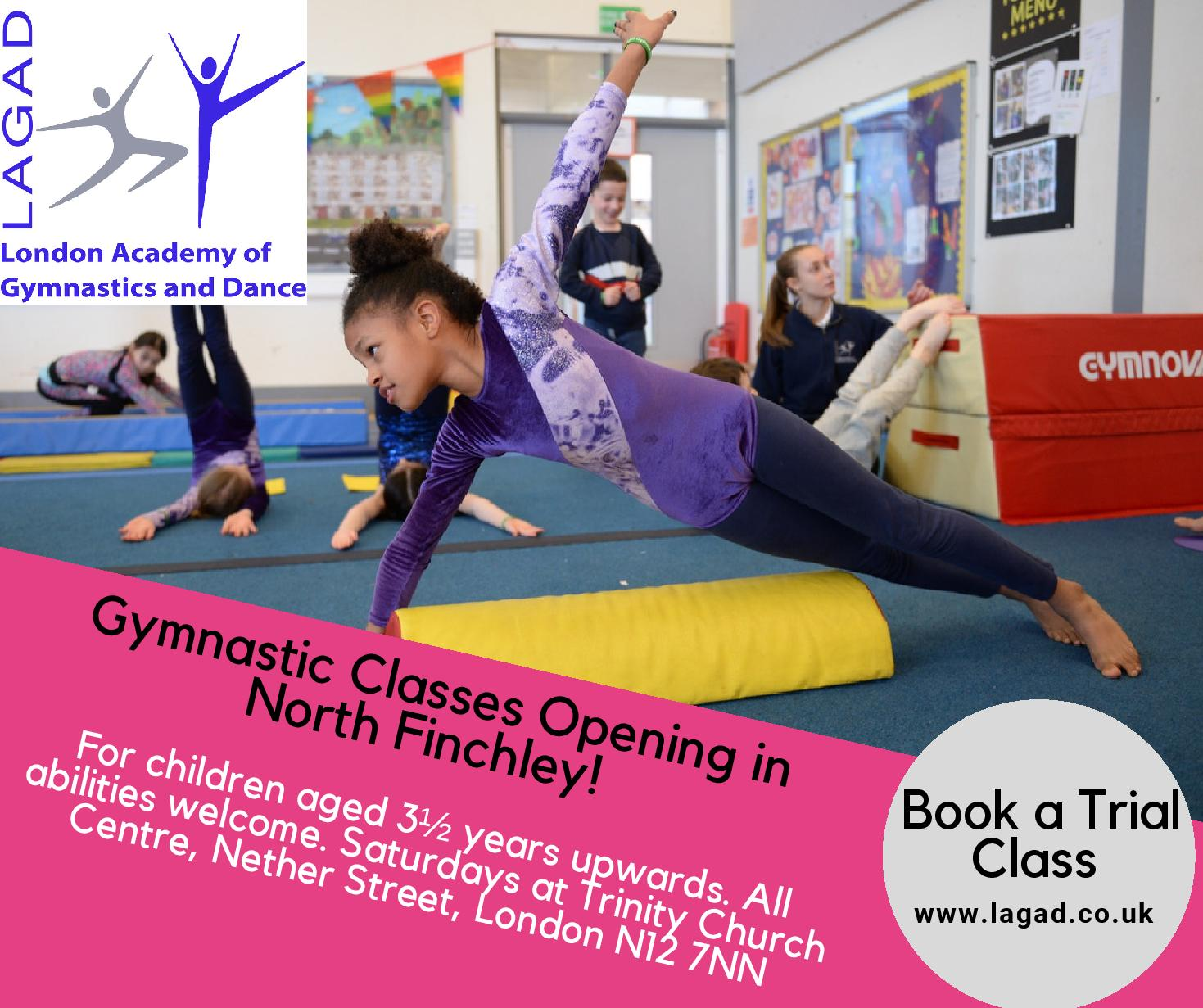 Gymnastics classes in North Finchley